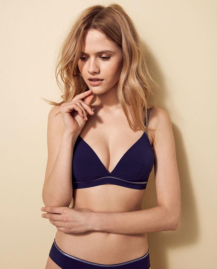 Triangel-Bikini-Oberteil mit Mini-Wire Jeansblau OHLALA
