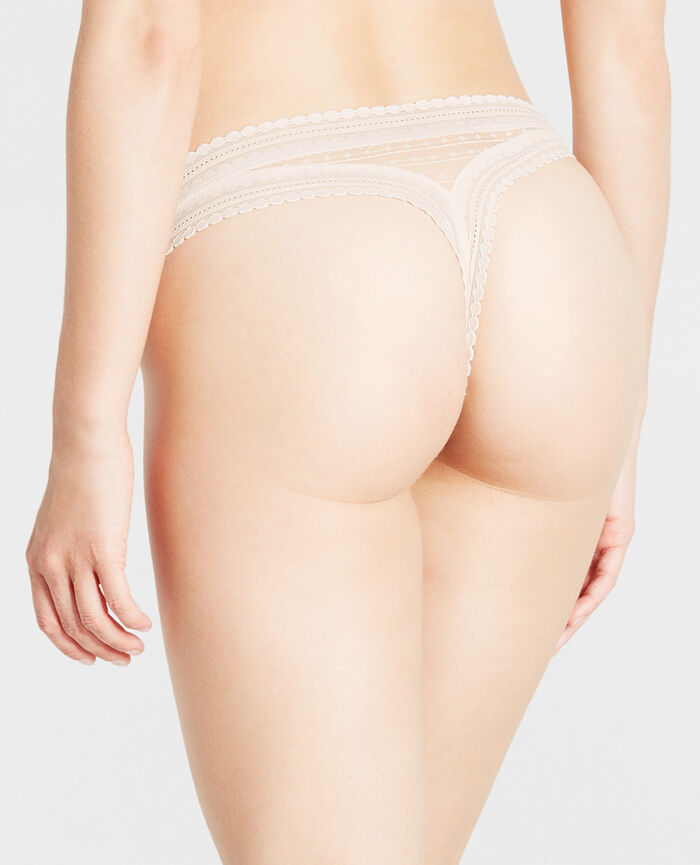 BELLE Rose white Tanga