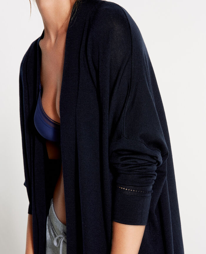 EXTRA Bleu abysse Cardigan manches longues