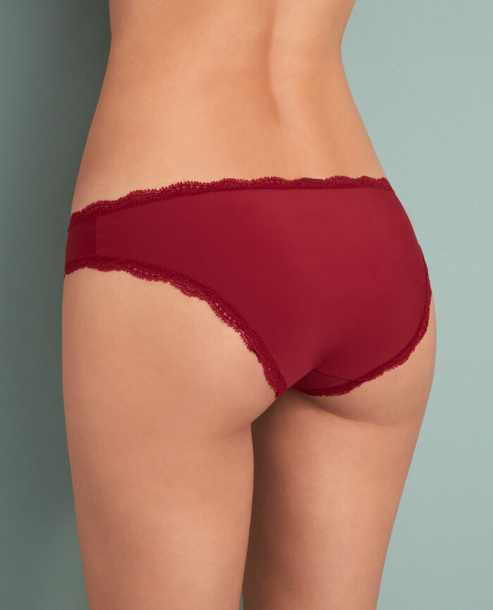 Culotte taille basse Rouge cuir Take away