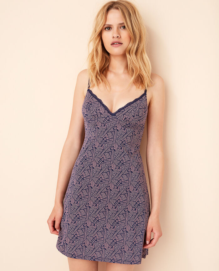 Slip dress Ethnic blue Take away