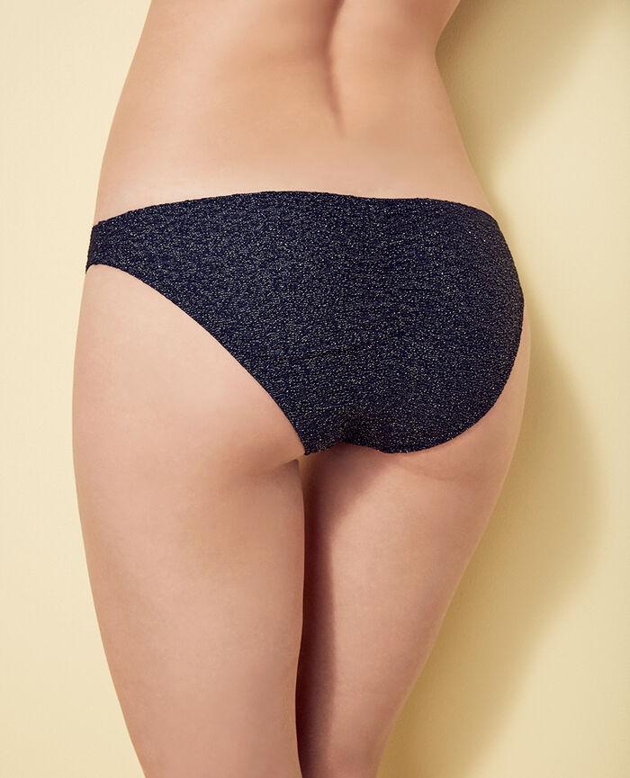 High-cut bikini briefs Denim blue Makeda