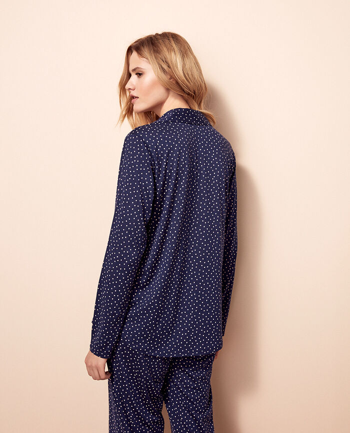 Jacket Navy Dot