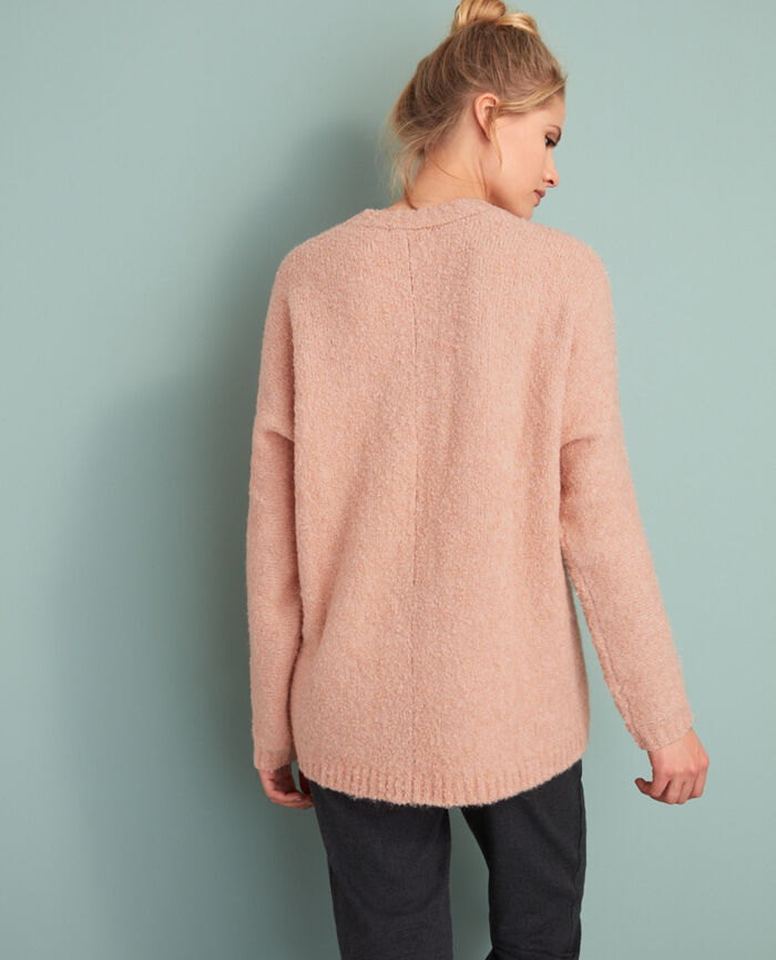 Cardigan manches longues Rose jazz Loop