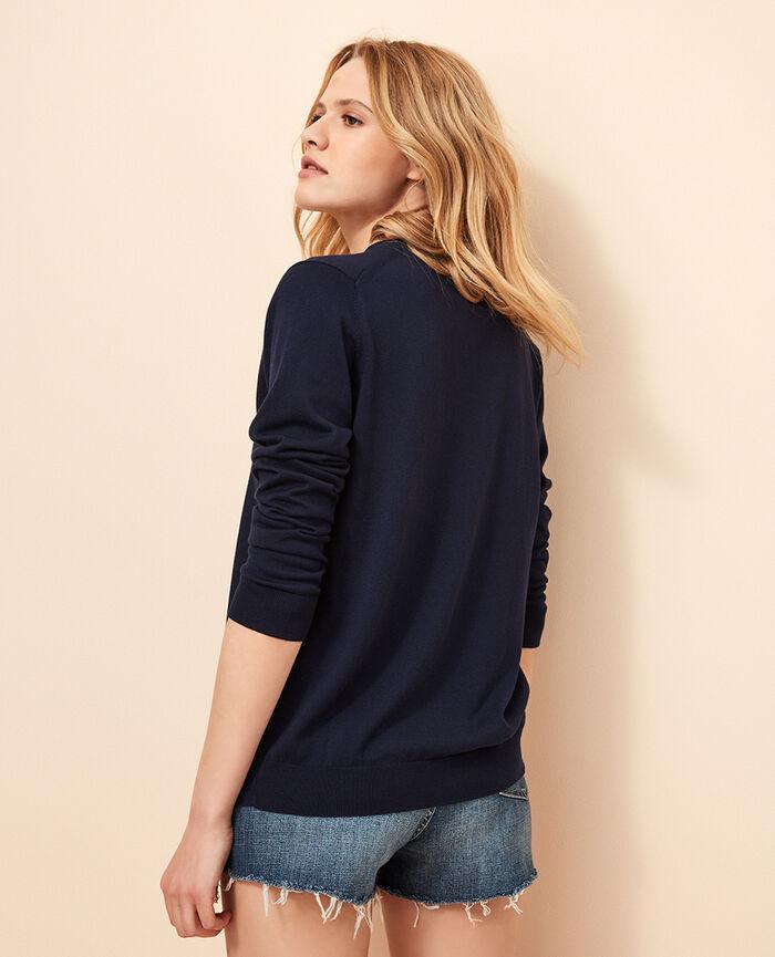 Long-sleeved cardigan Navy Soleil