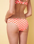 Shorty de bain brésilien Orange fluo Zebra