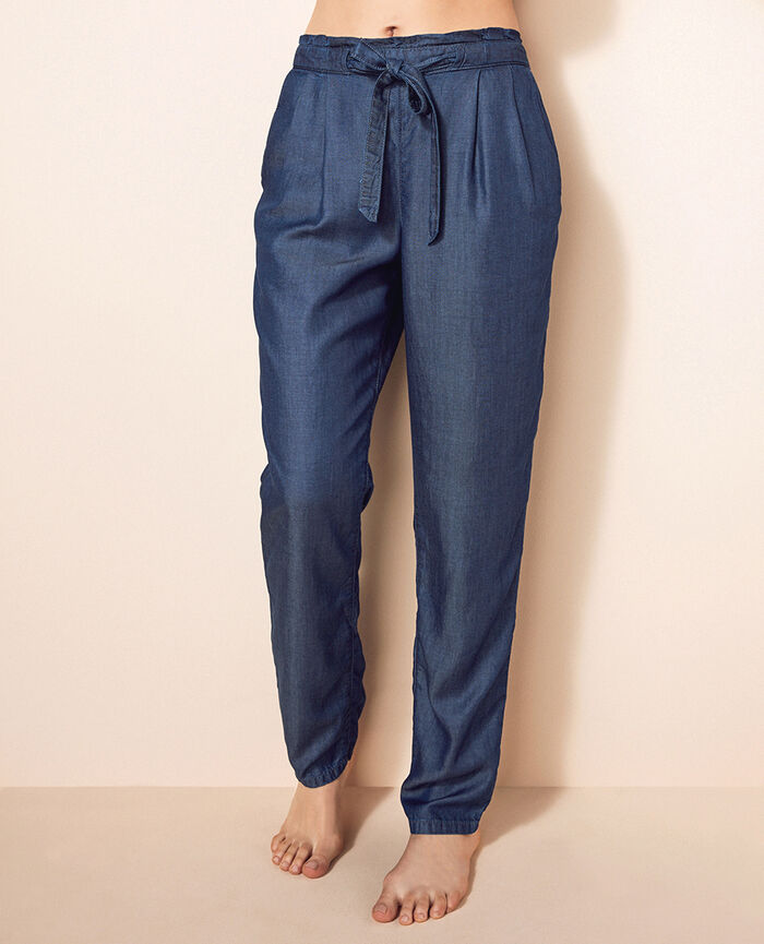 Trousers Denim blue Easy