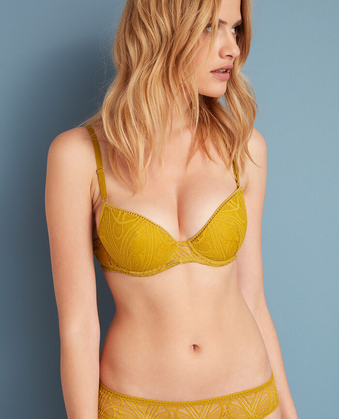 Soutien-gorge push-up mousses Jaune pickles Boheme