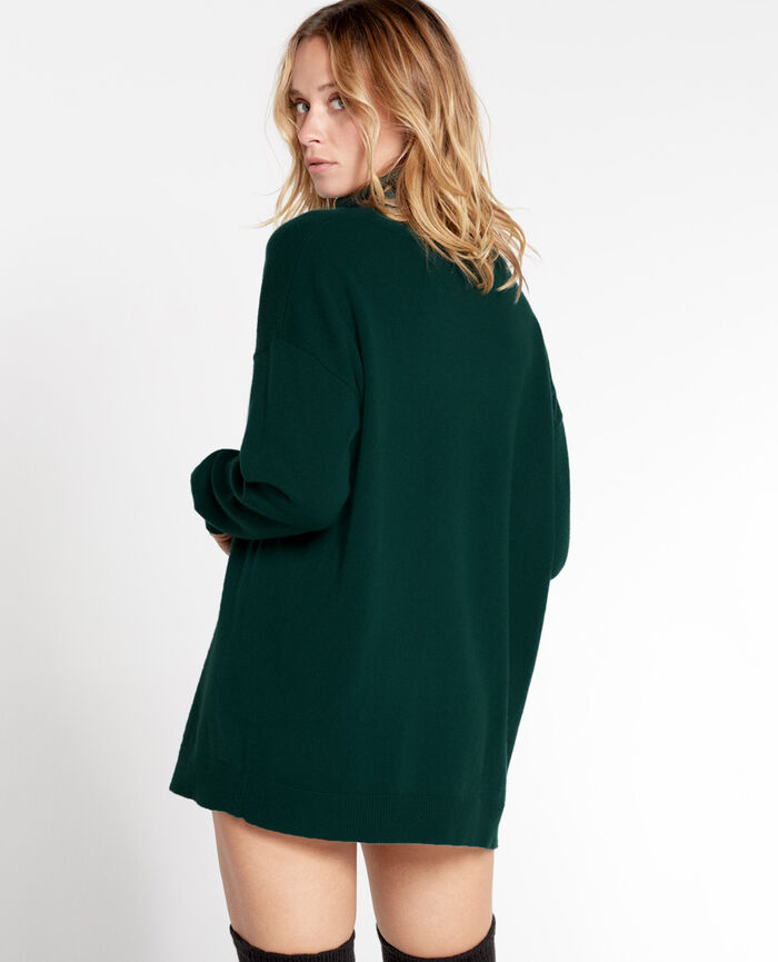 COZY Midnight green Turtle-neck jumper
