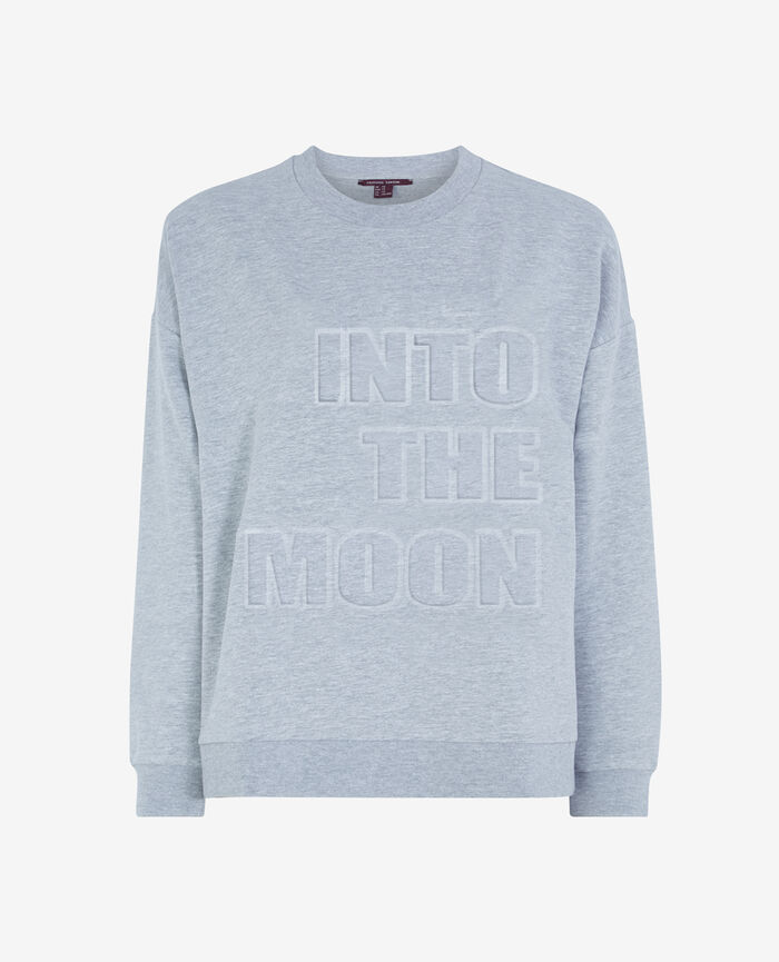 SWEAT COLLECTION Gris chiné Sweat