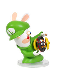 Mario + Rabbids Kingdom Battle: Rabbid Luigi 3'' Figurine, , large