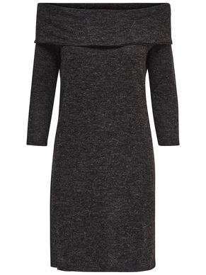 SOLID LONG SLEEVED DRESS