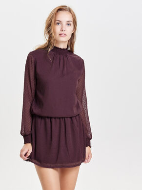 HIGH NECK LONG SLEEVED DRESS