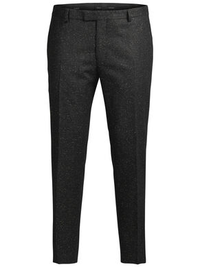 FLECKED WOOL AND SILK TROUSERS