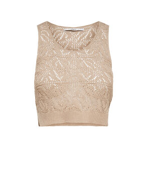 SLEEVELESS KNITTED TOP