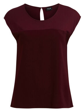 FINE SHORT SLEEVED TOP
