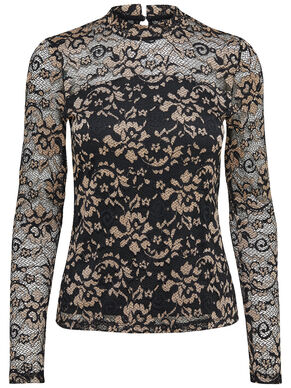 LACE LONG SLEEVED TOP