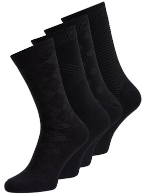 CLASSIC BLACK 4 PACK SOCKS