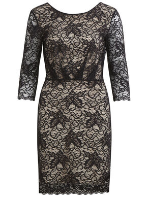 3/4 SLEEVED, LACE DRESS