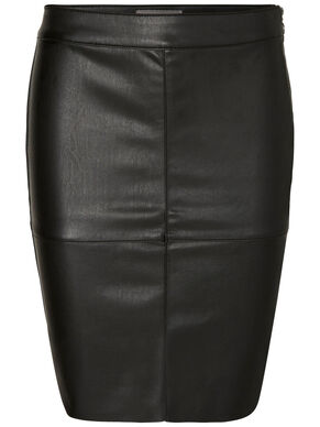NW IMITATED LEATHER SKIRT