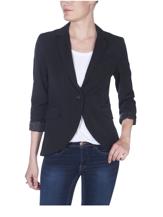 TIGHT BLAZER, BLACK, large