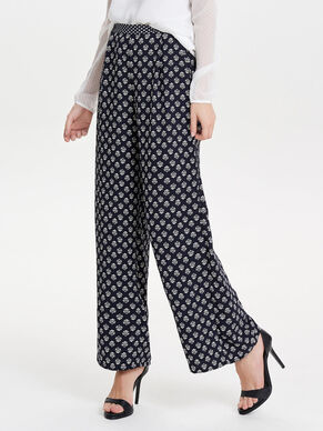 PRINTED WIDE TROUSERS