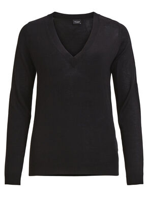 V-NECK LONG SLEEVED TOP