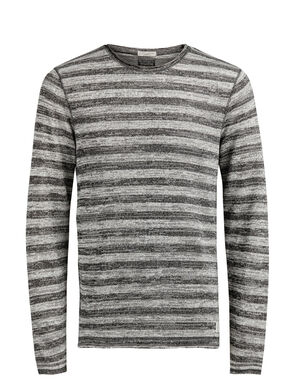 STRIPED MELANGE SWEATSHIRT