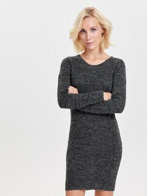 ZIP KNITTED DRESS