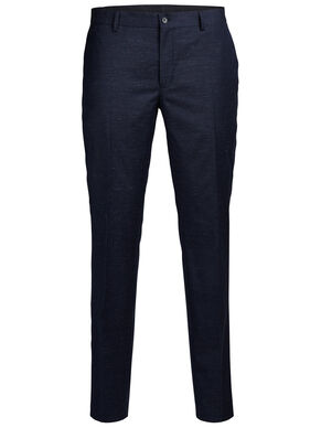 WOOL BLEND FLECKED TROUSERS