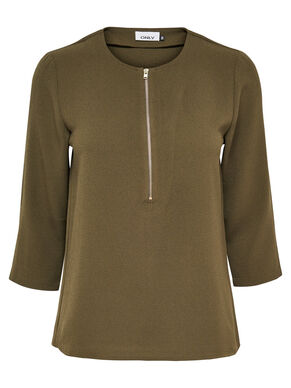 DETAILED 3/4 SLEEVED TOP