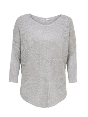 KNITTED 3/4 SLEEVED BLOUSE