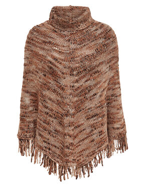 KNITTED ROLLNECK PONCHO