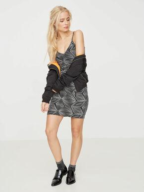 GLITTER SLEEVELESS DRESS