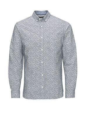 PRINTED BUTTON-DOWN BUSINESS SHIRT