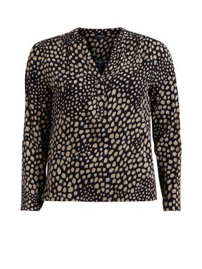 PATTERNED LONG SLEEVED TOP