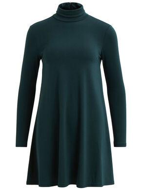 SIMPLE ROLLNECK DRESS