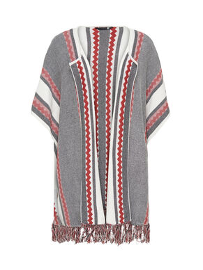 CONTRAST COLORED PONCHO