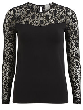 OBJLIP - LACE LONG SLEEVED TOP