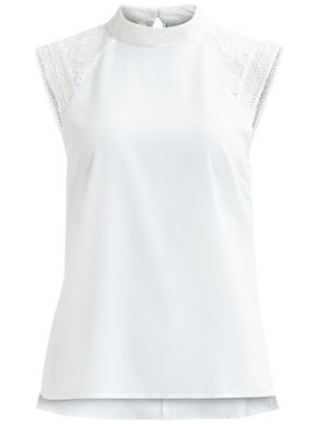 FEMININE, LACE SHORT SLEEVED TOP