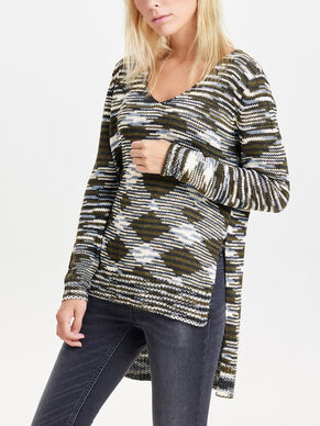 HIGH LOW KNITTED PULLOVER