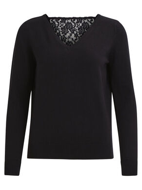 LACE KNITTED TOP