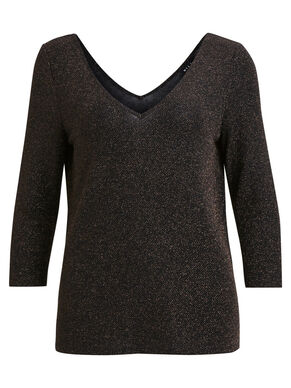 GLITTER 3/4 SLEEVED BLOUSE