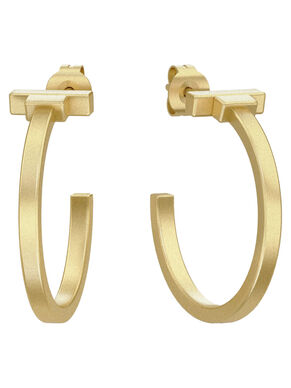 GOLD PLATING HOOP EARRINGS