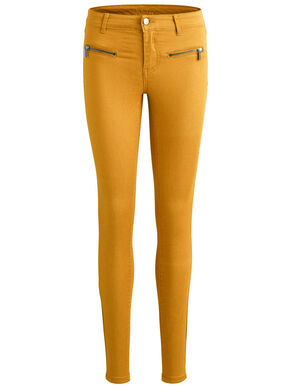 ZIPPER DETAIL - SKINNY FIT JEANS
