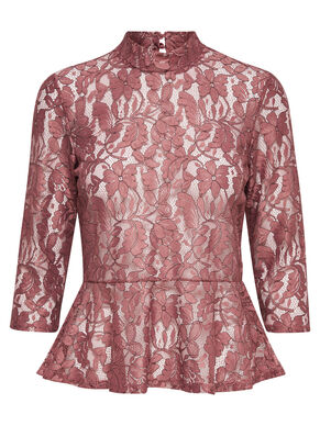 LACE 3/4 SLEEVED BLOUSE