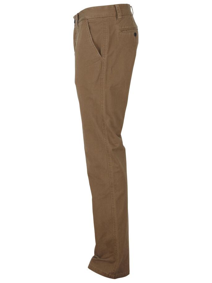 THREE SHPARIS - DARK CAMEL CHINO PANTS, Dark camel, large
