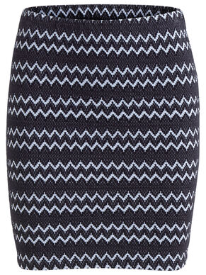 PATTERNED, SLIM SKIRT
