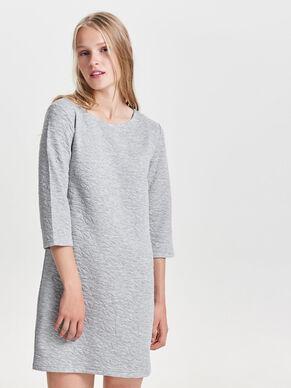 3/4 SLEEVED SWEAT DRESS
