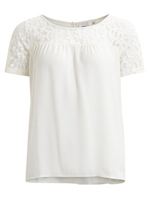 LACE DETAIL - SHORT SLEEVED TOP